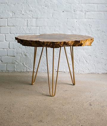 """Кофейный стол в стиле лофт из спила капового тополя """"Poplar"""""""