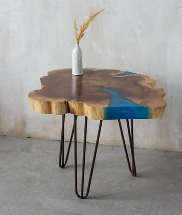 """Кофейный стол-река в стиле лофт """"Blue river"""""""