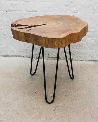 """Прикроватный столик в стиле лофт из спила вяза """"Norse"""""""