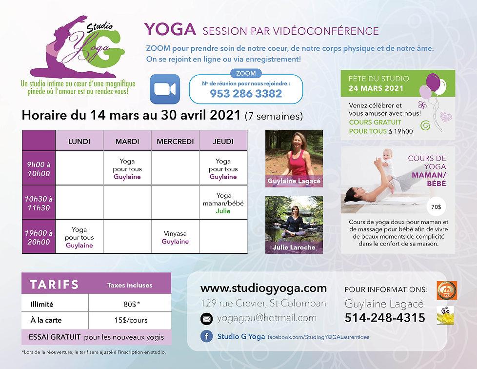 Flyer 8.5 x 11 Studio G Yoga-Mars Avril