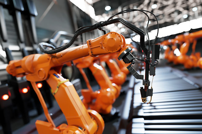 robotic-arms-along-assembly-line-in-mode