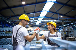 factory-workers-handshaking-each-other-p
