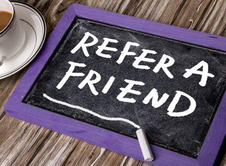 refer a friend, and loyalty cards!