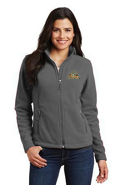 Women's fleece jacket with embroidered vintage logo