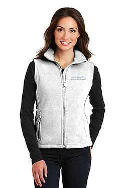 Women's fleece vest with embroidered classic logo