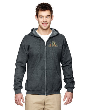Men's hoodie with embroidered vintage logo