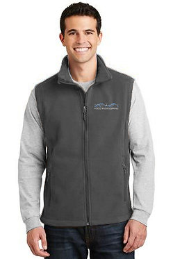 Men's fleece vest with embroidered classic logo