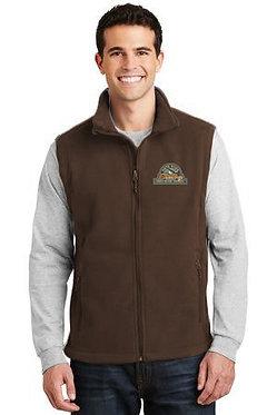 Men's fleece vest with embroidered vintage logo