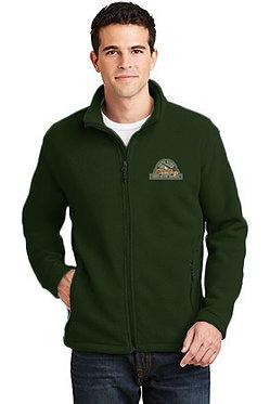 Men's fleece jacket with embroidered vintage logo
