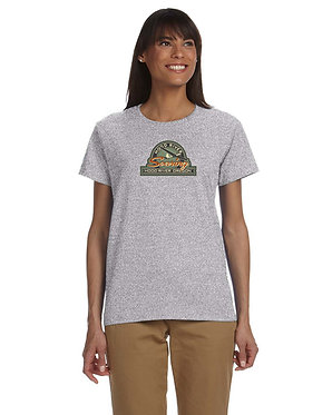 Women's short sleeve T-shirt with vintage logo