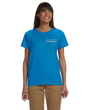 Women's short sleeve T-shirt with embroidered classic logo