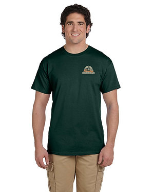 Men's short sleeve T-shirt with embroidered vintage logo