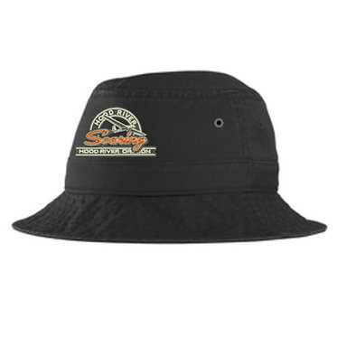 Bucket hat with embroidered vintage logo