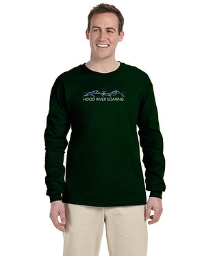 Men's long sleeve knit shirt with classic logo