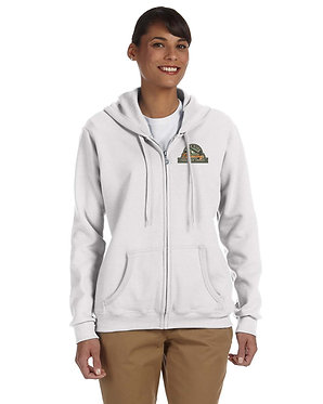 Women's hoodie with embroidered vintage logo