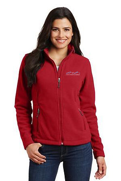 Women's fleece jacket with embroidered classic logo