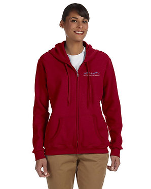 Women's hoodie with embroidered classic logo