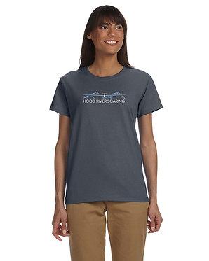 Women's short sleeve T-shirt with classic logo