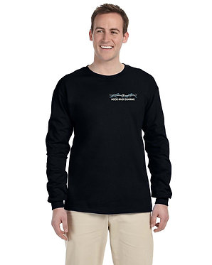 Men's long sleeve knit shirt with embroidered classic logo
