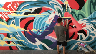 Timelapse of Mr Tee Mural