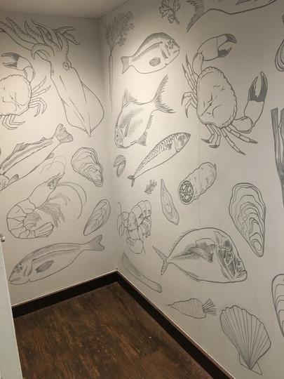 Heaney restaurant mural