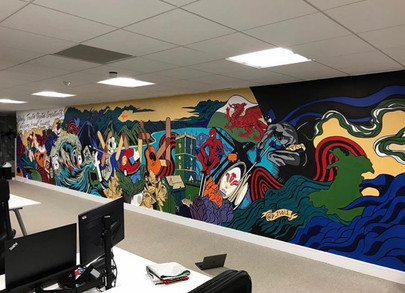 The Yard Office mural
