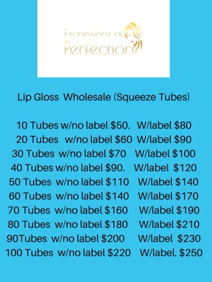 Boss Up - Lip Gloss Wholesale  (Squeeze Tubes)