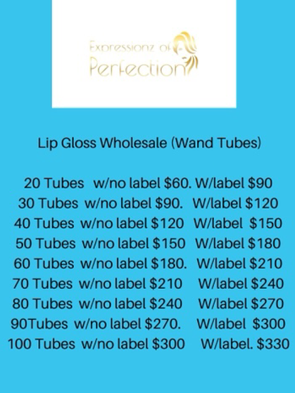 Boss Up- Lip Gloss Wholesale (Wand Tubes)