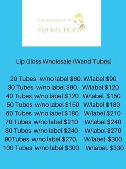 Boss Up- Lip Gloss Wholesale (Wand Tubes)