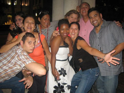 Hanging out with my family from Fort Lauderdale