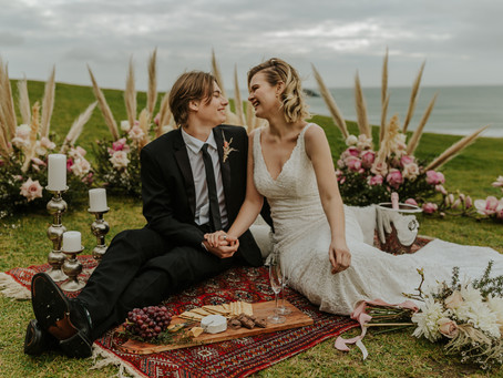 Boho Picnic Cliffside Elopement | Styled Shoot