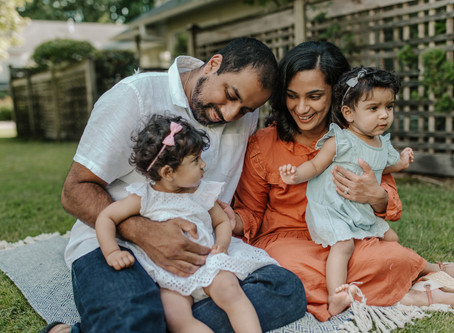 Maya & Meera | first birthday family session