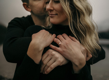 Moody PNW Engagement | Megan + Kael