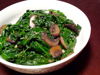 Garlic Sautéed Spinach & Mushrooms