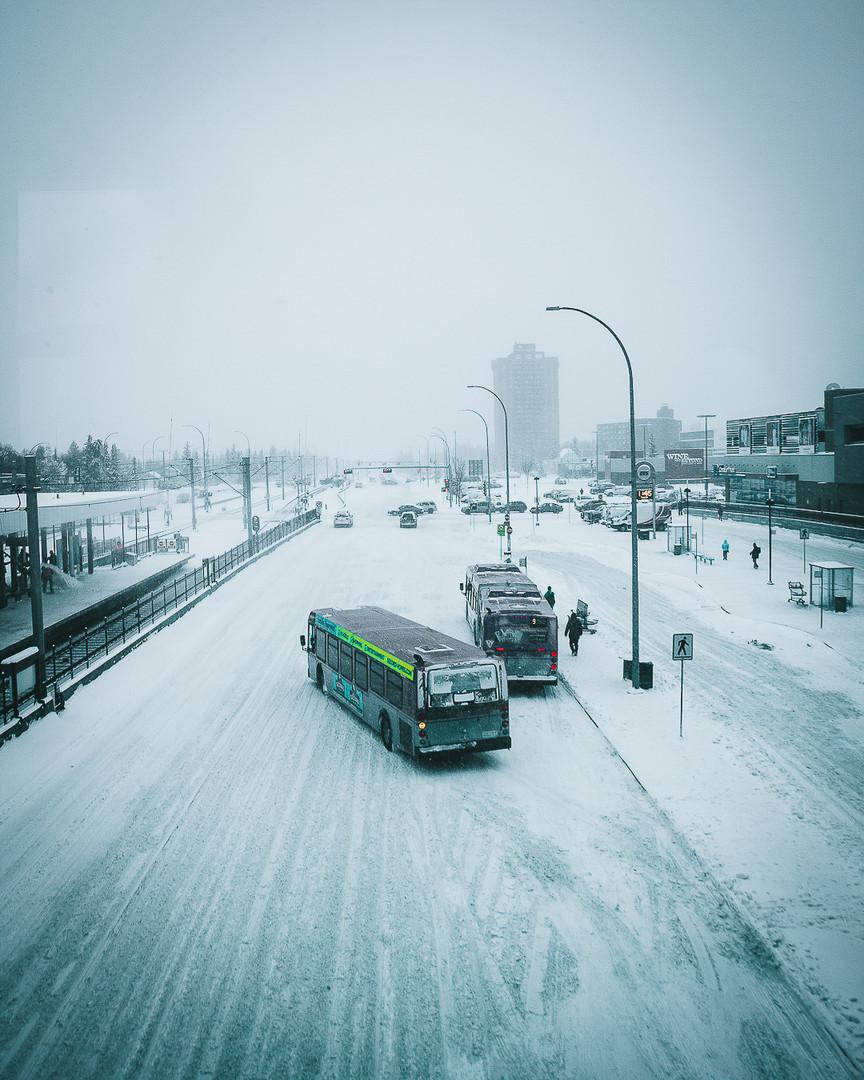 Snowy transit