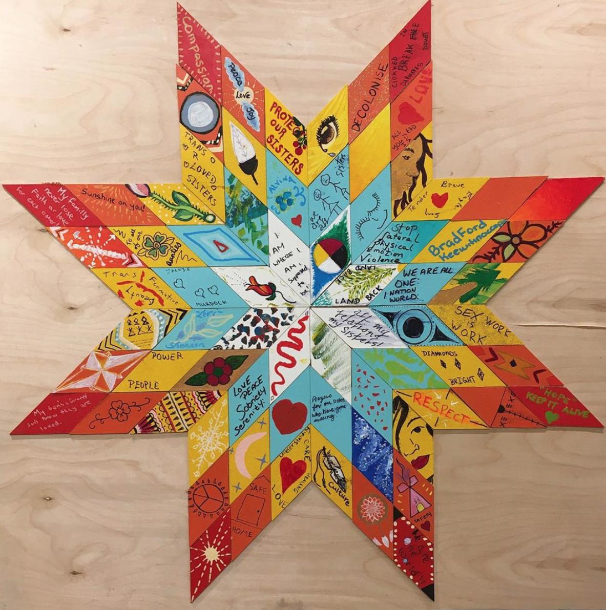 Wish Upon a Star Blanket Mural by Jeska Slater