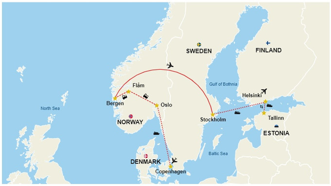 On your Scandinavian  Solo Backpacking tour