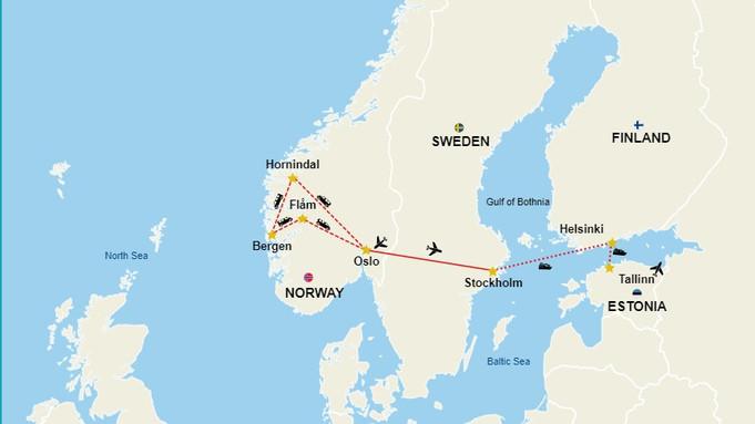 On your Scandinavian Bachelorette Delight tour