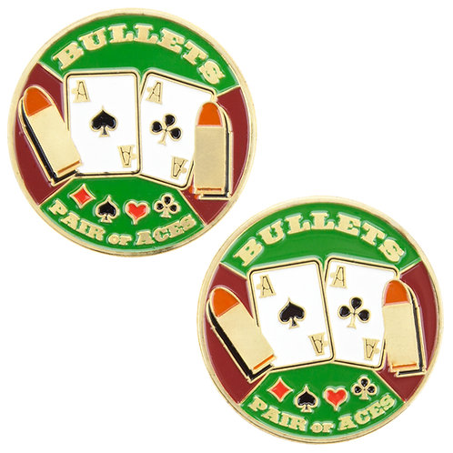 Bullets Pair of Aces Card Guard