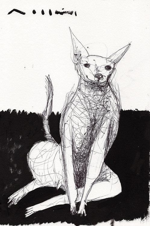 """BEASTS: """"Mischief"""" ~ Original Ink  Drawing on Paper"""