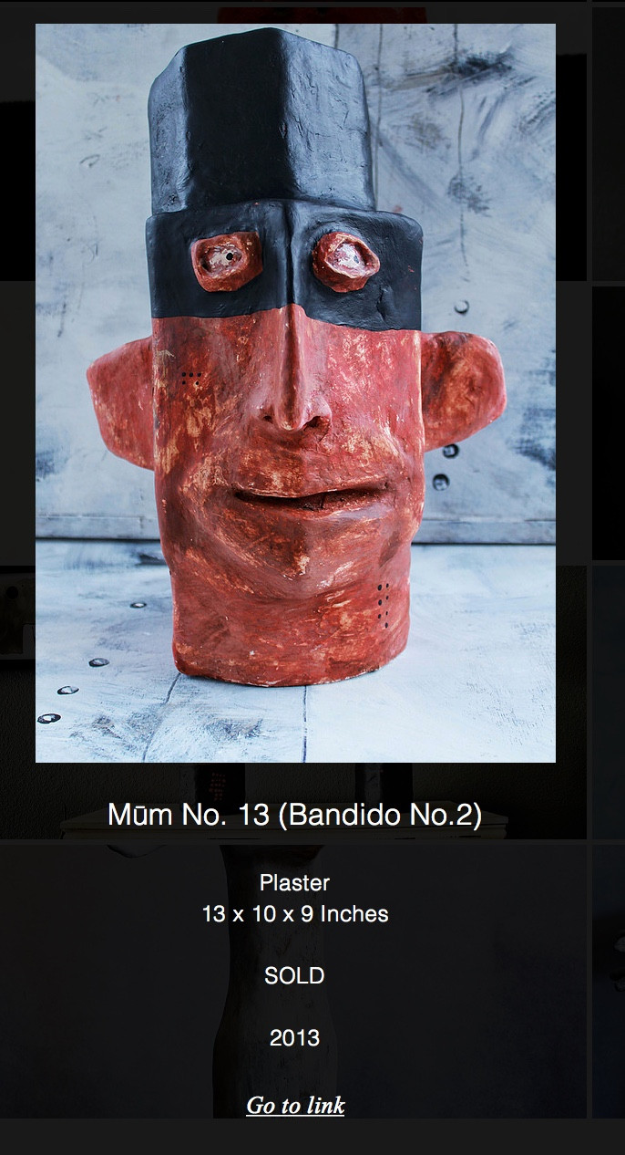 MŪM No. 14 (Bandito) | Plaster and Resin Sculpture | Private Collection United States