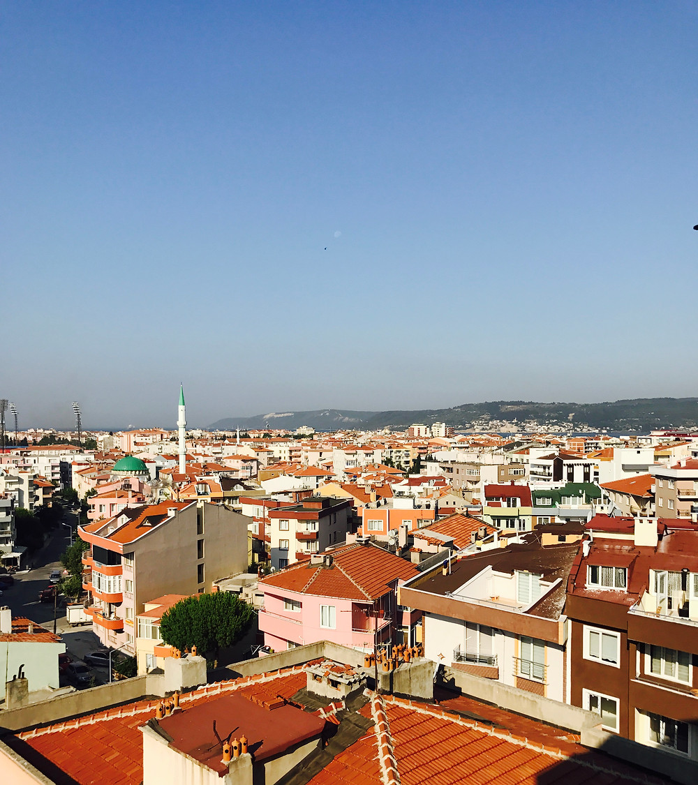 View of Çanakkale from Mellon Fine Art Studio