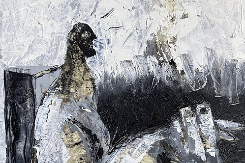 "ODYSSEY: ""Tension"" ~ Original Oil on Paper"