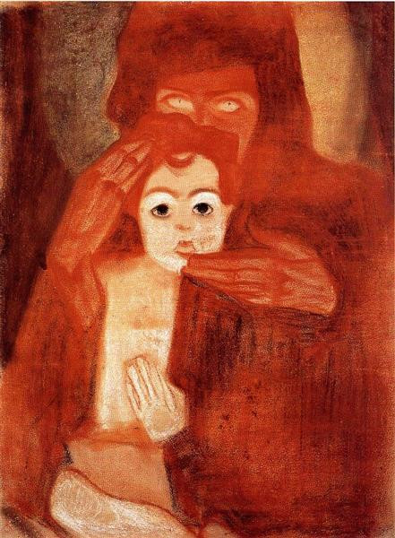 Mother and Child by Egon Schiele