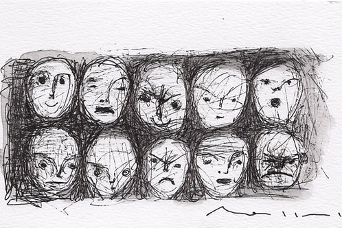 "MODERN EXPRESSIONS: ""Wall of Expression No.1"" ~ Original Ink on Paper"