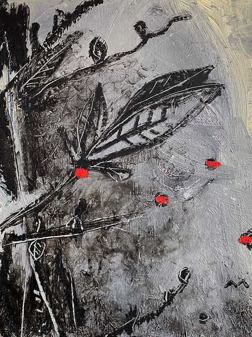 "FRAGMENTS: ""Pollination"" ~ Original Oil on Canvas"