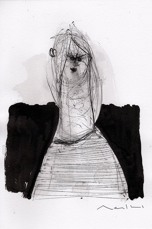 """MODERN EXPRESSIONS: """"Sumi 002"""" ~ Original Ink on Paper"""