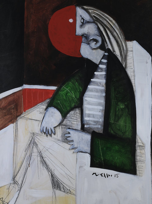 Limited Edition Giclee: SPERAMUS: MAN IN GREEN JACKET... (SERIES TWO)