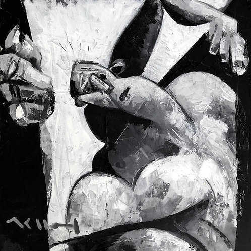 "MUTATIO: ""Anxiety"" ~ Original Oil on Canvas"