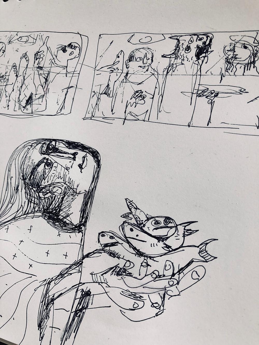 Sketch for work in development | Mark M. Mellon